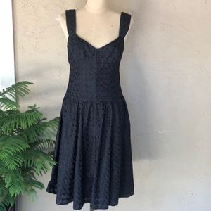 Nanette Lepore eyelet drop waist bustier dress